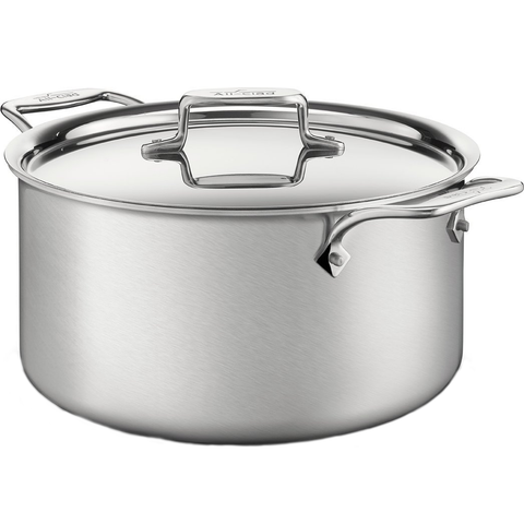 ALL-CLAD D5® STAINLESS BRUSHED 8-QUART STOCKPOT