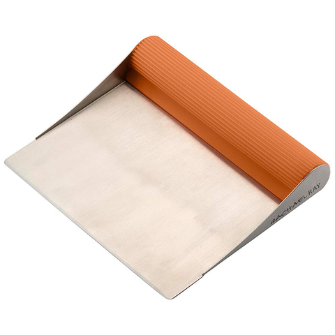 RACHAEL RAY TOOLS & GADGETS STAINLESS BENCH SCRAPE - ORANGE