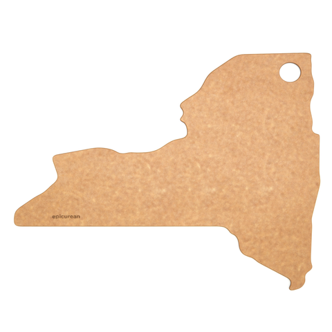"Epicurean State of New York Cutting and Serving Board, 14 by 12"", Natural"