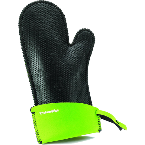 KITCHENGRIPS WOMEN'S RELEXED FIT SINGLE MITT, EXTENDABLE CUFF - LIME