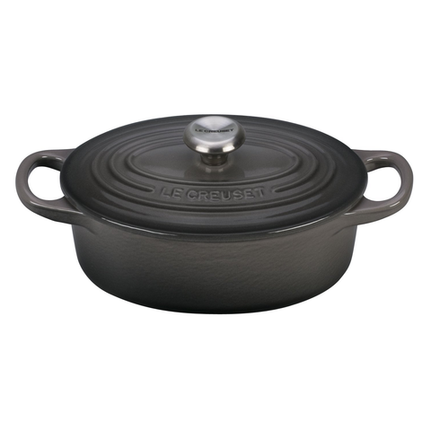 LE CREUSET 1-QUART OVAL DUTCH OVEN - OYSTER