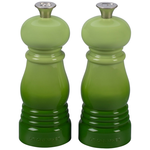 LE CREUSET SMALL SALT AND PEPPER MILLS, SET OF 2 - PALM