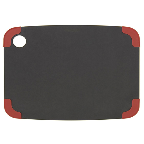 EPICURE NONSLIP SERIES 11.5'' X 9'' CUTTING BOARD - SLATE/RED