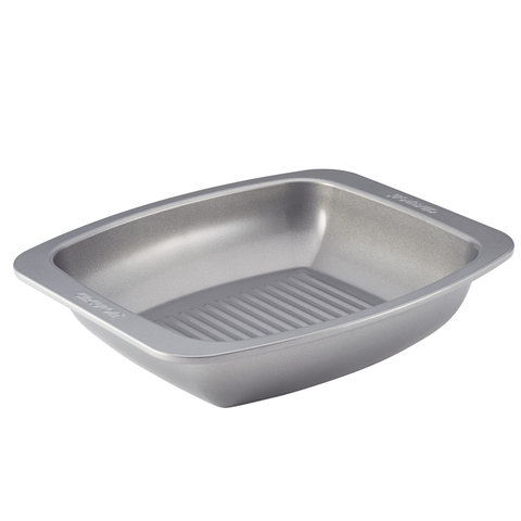 Circulon Nonstick Bakeware 16-1/2-Inch x 14-Inch Roaster with Self Rack, Gray