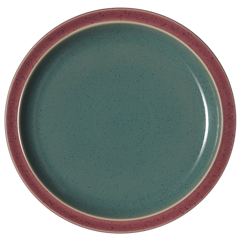 DENBY HARLEQUIN 10.25'' DINNER PLATE - RED/GREEN