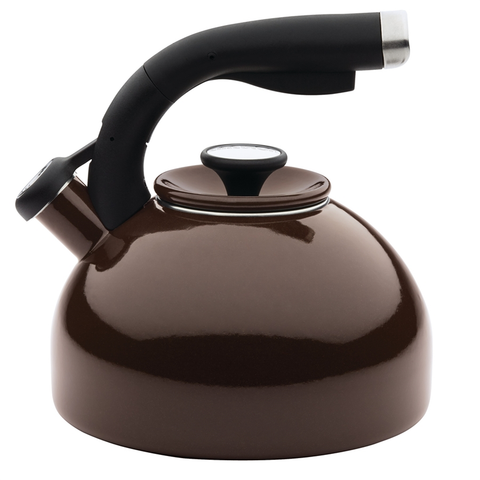 Circulon 2-Quart Morning Bird Teakettle, Chocolate