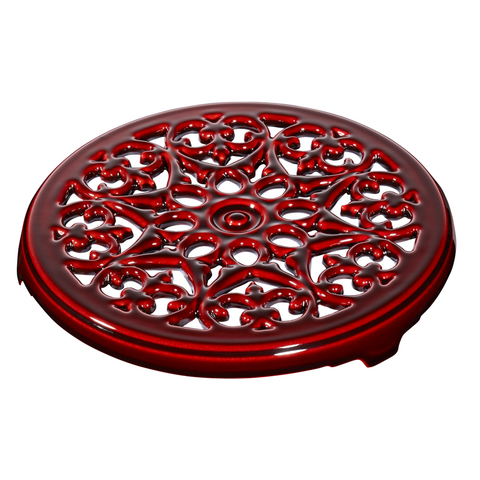 STAUB CAST IRON 9'' ROUND LILLY TRIVET - GRENADINE