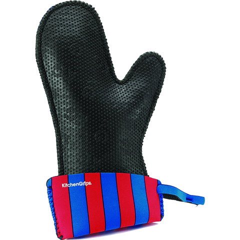 KITCHENGRIPS WOMEN'S FITTED SINGLE MITT, EXTENDABLE CUFF - CIRCUS