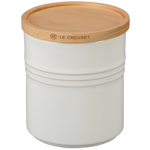 LE CREUSET 2 1/2-QUART STORAGE CANISTER - WHITE