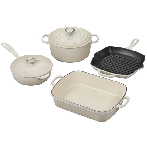 Le Creuset 6-Piece Signature Set - Meringue