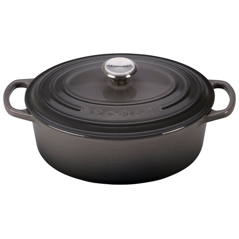 LE CREUSET 2 3⁄4-QUART OVAL DUTCH OVEN - OYSTER