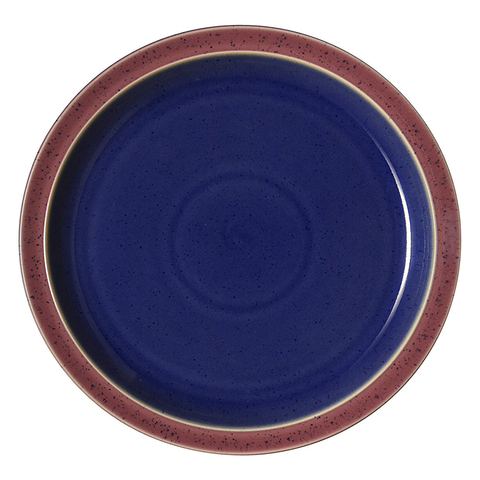 DENBY HARLEQUIN SALAD PLATE - BLUE/RED