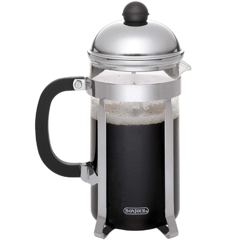 BONJOUR 3-CUP MONET FRENCH PRESS - SILVER