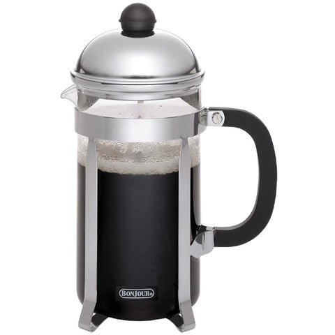 BONJOUR 8-CUP MONET FRENCH PRESS - SILVER