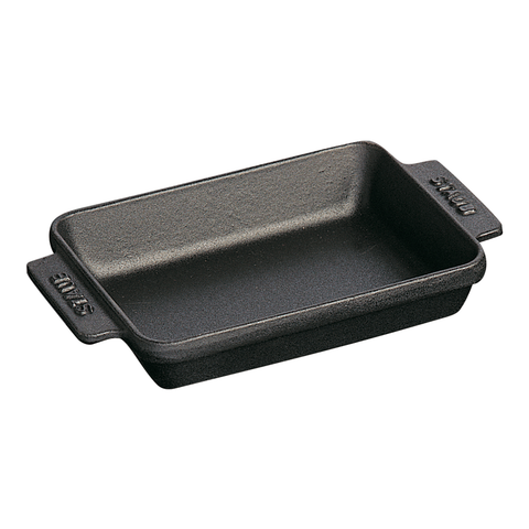STAUB CAST IRON 5.75'' X 4.5'' MINI RECTANGULAR BAKER - MATTE BLACK