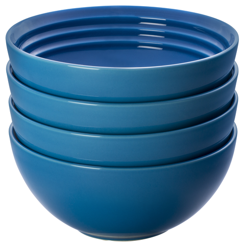 LE CREUSET 6¼'' SOUP BOWLS, SET OF 4 - MARSEILLE