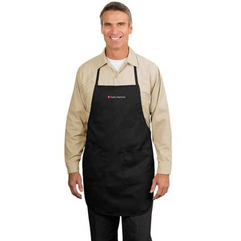 SWISS DIAMOND BLACK 2 POCKET CHEF'S APRON