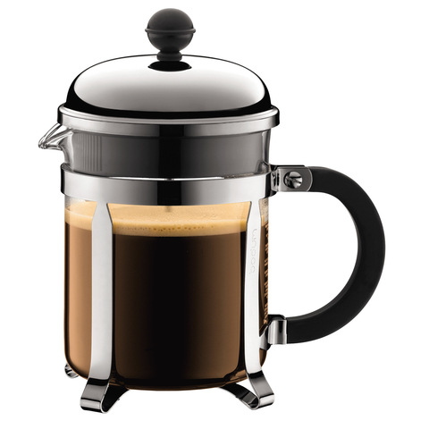 BODUM CHAMBORD 4-CUP SHATTERPROOF FRENCH PRESS - CHROME