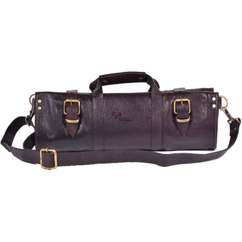 BOLDRIC LEATHER KNIFE BAG - BROWN