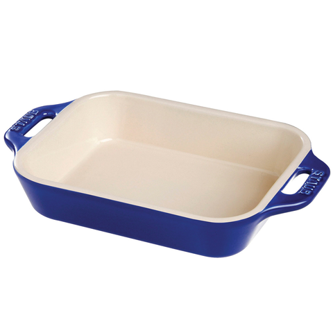 STAUB CERAMIC 10.5'' X 7.5'' RECTANGULAR BAKING DISH - DARK BLUE