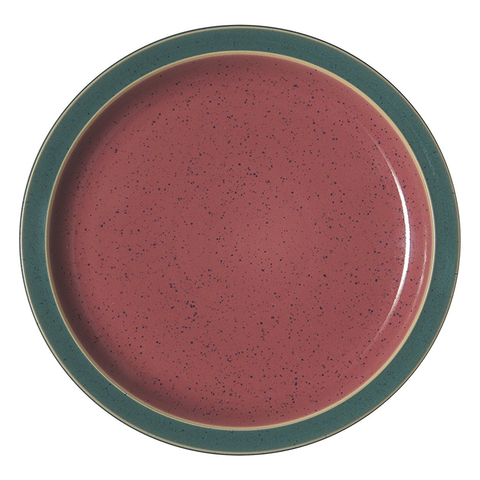DENBY HARLEQUIN SALAD PLATE - RED/GREEN