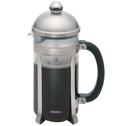 BONJOUR 8-CUP MAXIMUS FRENCH PRESS - SILVER