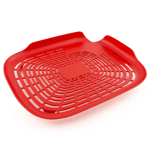 Tovolo Prep N' Rinse Flat Colander - Candy Apple Red