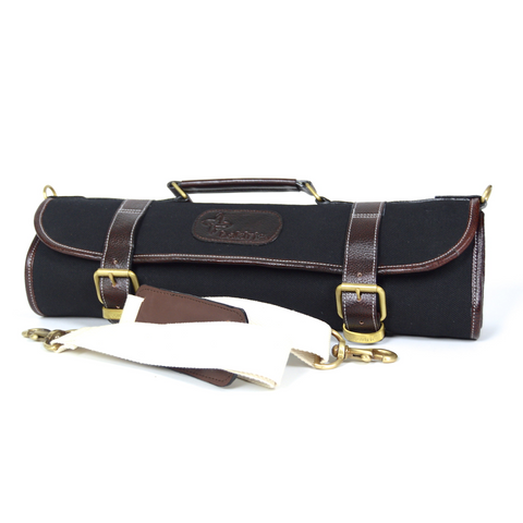 BOLDRIC 9-POCKET CANVAS KNIFE BAG
