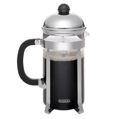 BONJOUR 12-CUP MONET FRENCH PRESS - SILVER