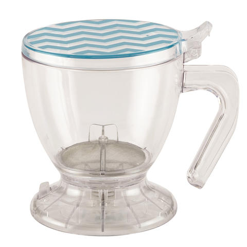 BONJOUR 19.5-OUNCE SMART BREWER - BLUE CHEVRON