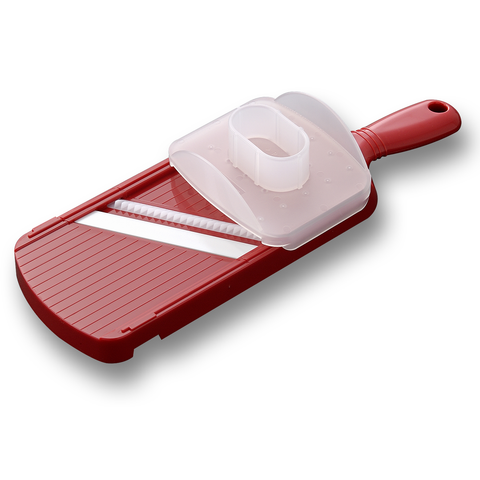 KYOCERA WIDE JULIENNE SLICER WITH GUARD - RED