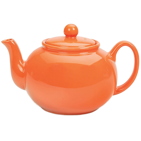 RSVP STONEWARE TEAPOT – ORANGE