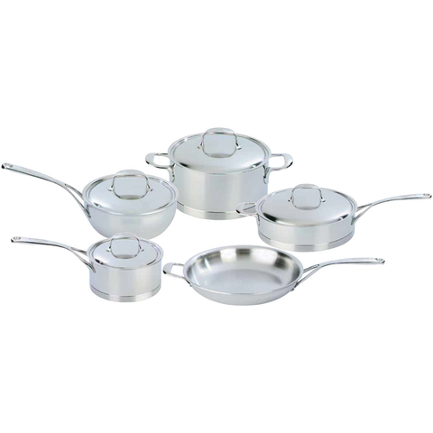 DEMEYERE ATLANTIS 9-PIECE STAINLESS STEEL COOKWARE SET