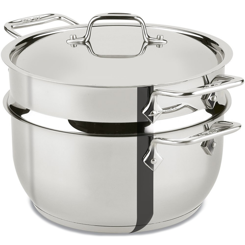 DISCONTINUED-ALL-CLAD STAINLESS STEEL 5-QUART STEAMER COOKWARE