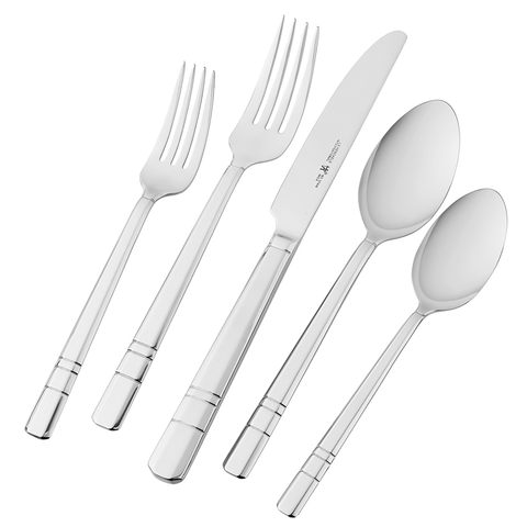 J.A. HENCKELS INTERNATIONAL MADISON SQUARE 65-PIECE 18/10 STAINLESS STEEL FLATWARE SET