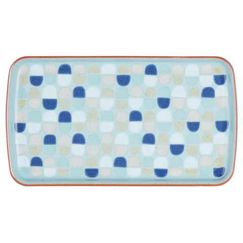 Denby Heritage Pavilion Accent Rectangle Plate, Blue