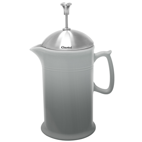 CHANTAL 28-OUNCE CERAMIC FRENCH PRESS W/ SS PLUNGER - FADE GREY
