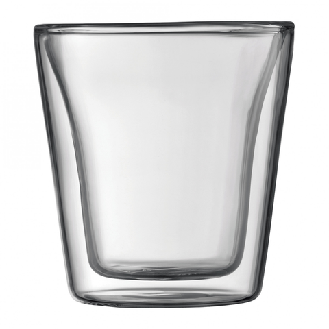 BODUM CANTEEN 3-OUNCE DOUBLE WALL ESPRESSO GLASS, SET OF 2