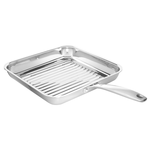 "OXO Good Grips Tri-Ply Stainless Steel Pro 11"" Square Grillpan"