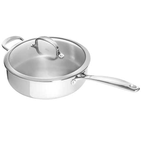 OXO GOOD GRIPS TRI-PLY STAINLESS STEEL PRO 4-QUART COVERED SKILLET