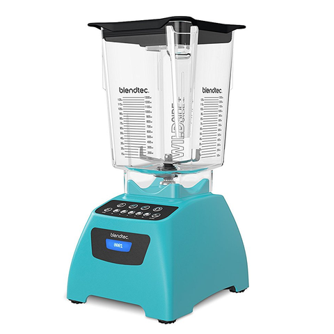 Blendtec Classic 575 Blender with 90 oz WildSide+ Jar, Caribbean Blue