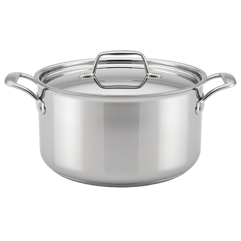 BREVILLE THERMAL PRO® CLAD STAINLESS STEEL 8-QUART COVERED STOCKPOT
