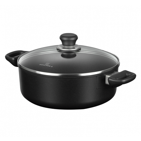 Scanpan Induction+ 10.25-Inch Low Sauce Pot with Lid