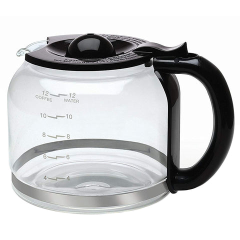 Capresso Glass with Black Accents 12-Cup Replacement Carafe For CoffeeTEAM PRO