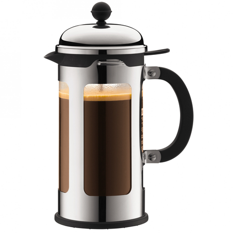 BODUM CHAMBORD 8-CUP FRENCH PRESS - CHROME