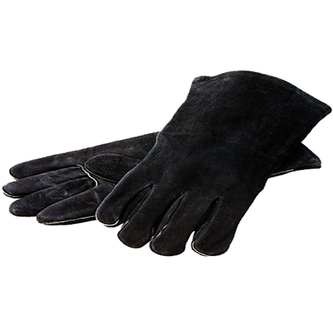 Lodge A5-2 Black Leather Gloves