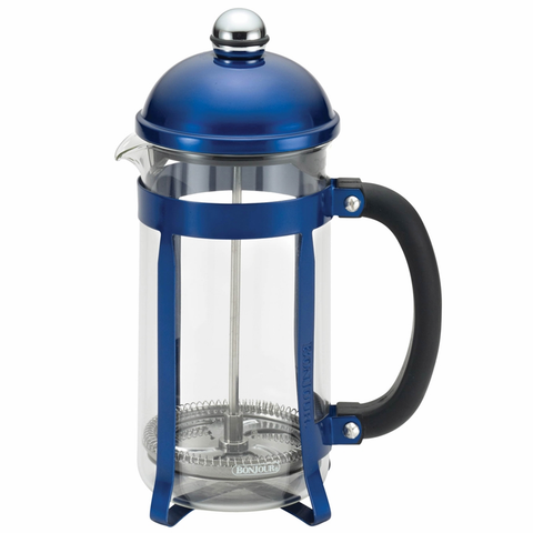 BONJOUR 8-CUP MAXIMUS FRENCH PRESS - BLUE