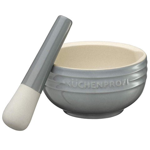 "Kuchenprofi ""Provence"" Mortar & Pestle, Ceramic Grey"