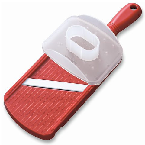 KYOCERA DOUBLE-EDGED SLICER WITH GUARD - RED