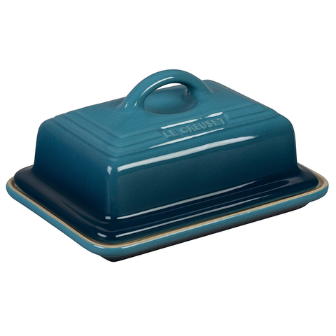 LE CREUSET HERITAGE BUTTER DISH - MARINE